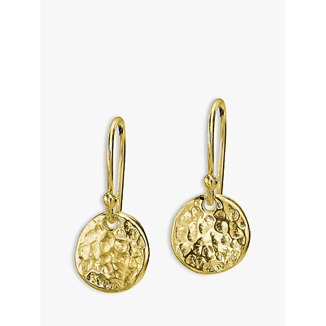 Dower Hall 18ct Gold Vermeil Disc Drop Earrings