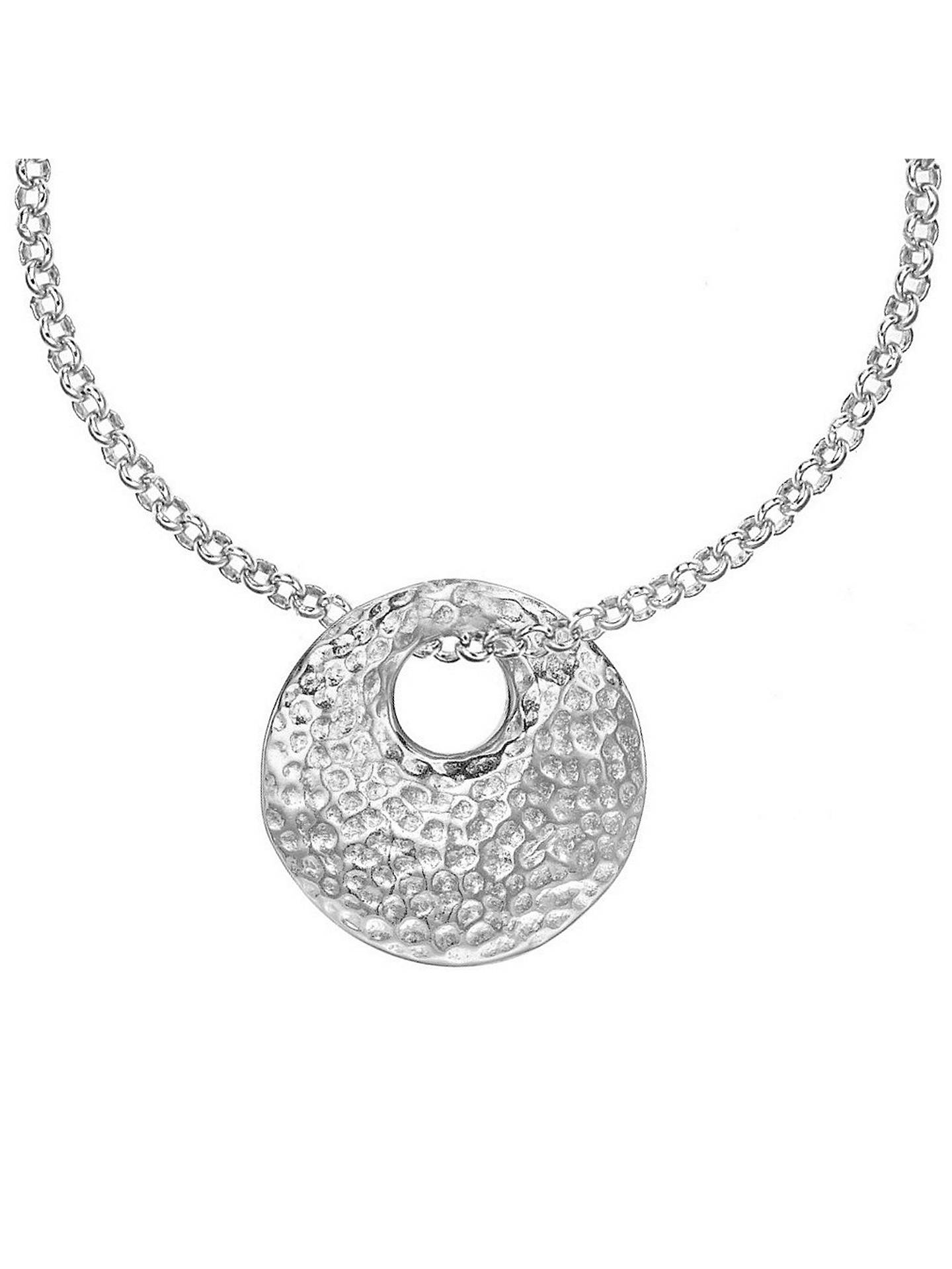 Buy Dower & Hall Nomad Disc Pendant, Silver Online at johnlewis.com