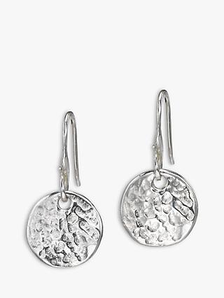 Dower & Hall Sterling Silver Disc Drop Earrings