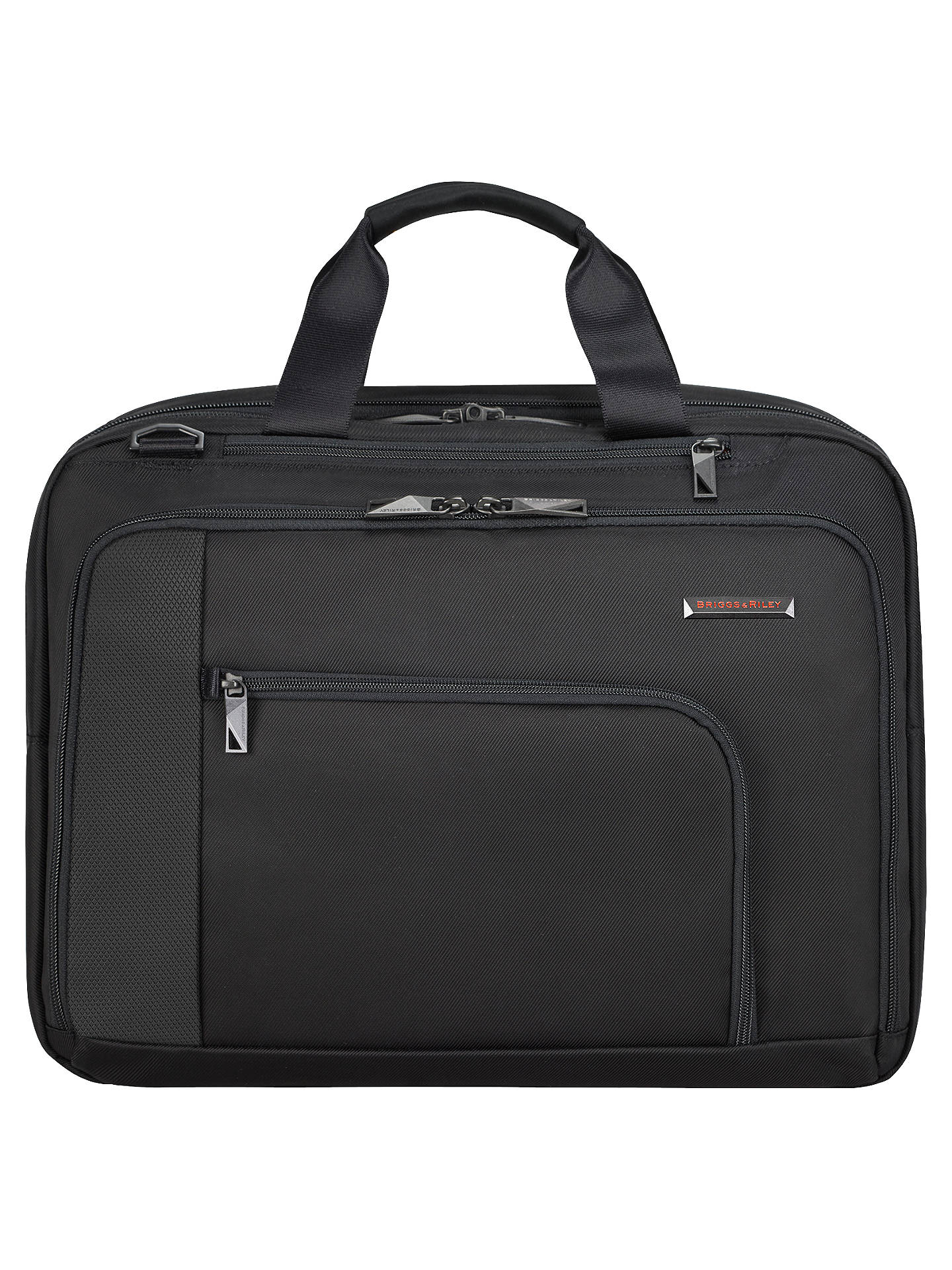 BuyBriggs & Riley Verb Adapt Briefcase, Black Online at johnlewis.com