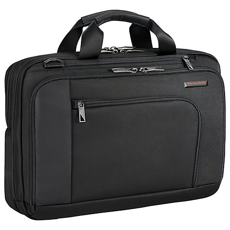 "Buy Briggs & Riley Verb Contact 15"" Laptop Briefcase, Black Online at johnlewis.com"