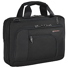 "Buy Briggs & Riley Verb Contact 13"" Laptop Briefcase, Black Online at johnlewis.com"
