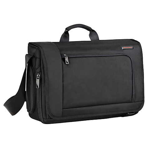"Buy Briggs & Riley Verb Despatch 17"" Laptop Messenger Bag, Black Online at johnlewis.com"