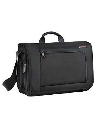 Briggs Riley Verb Despatch 17 Laptop Messenger Bag Black