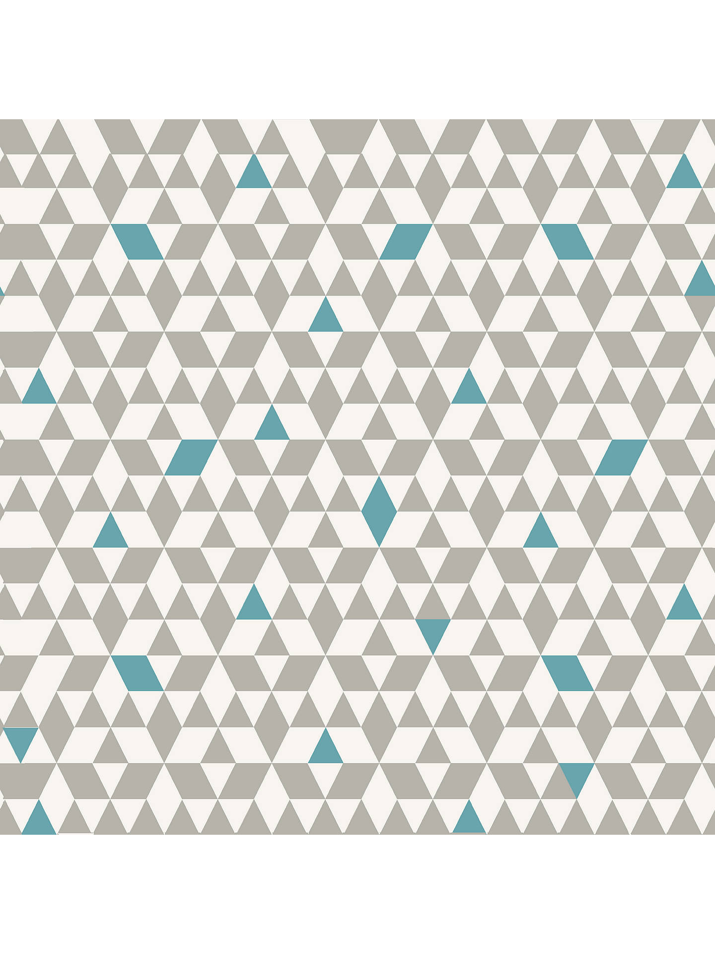 Buy House by John Lewis Triangles Wallpaper, Smoke / Teal Online at johnlewis.com
