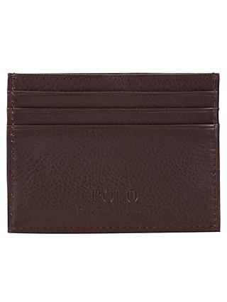 6ea97def3f Polo Ralph Lauren Pebble Leather Card Holder