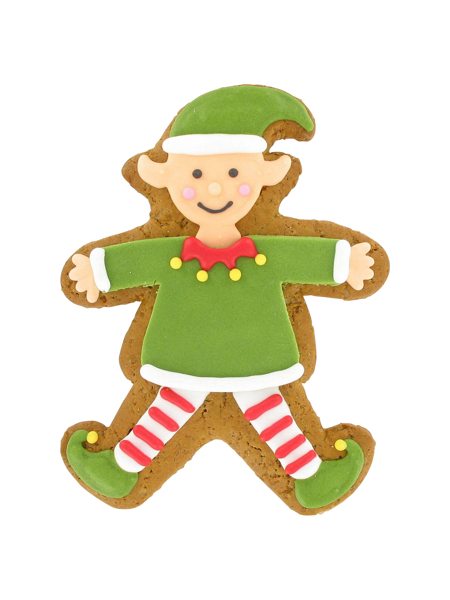 Image On Food Iced Elf Gingerbread Biscuit 50g At John Lewis Partners