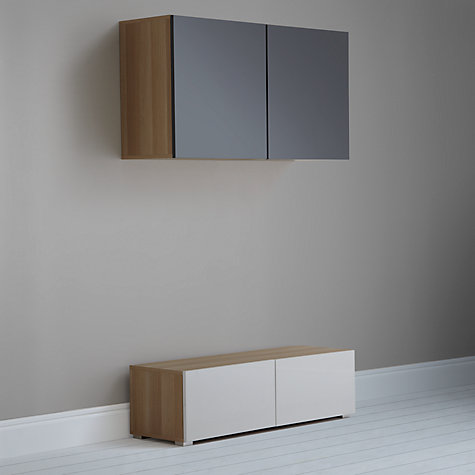 Buy House by John Lewis Mix it 120cm Floor and Floating Units, Oak/White Online at johnlewis.com