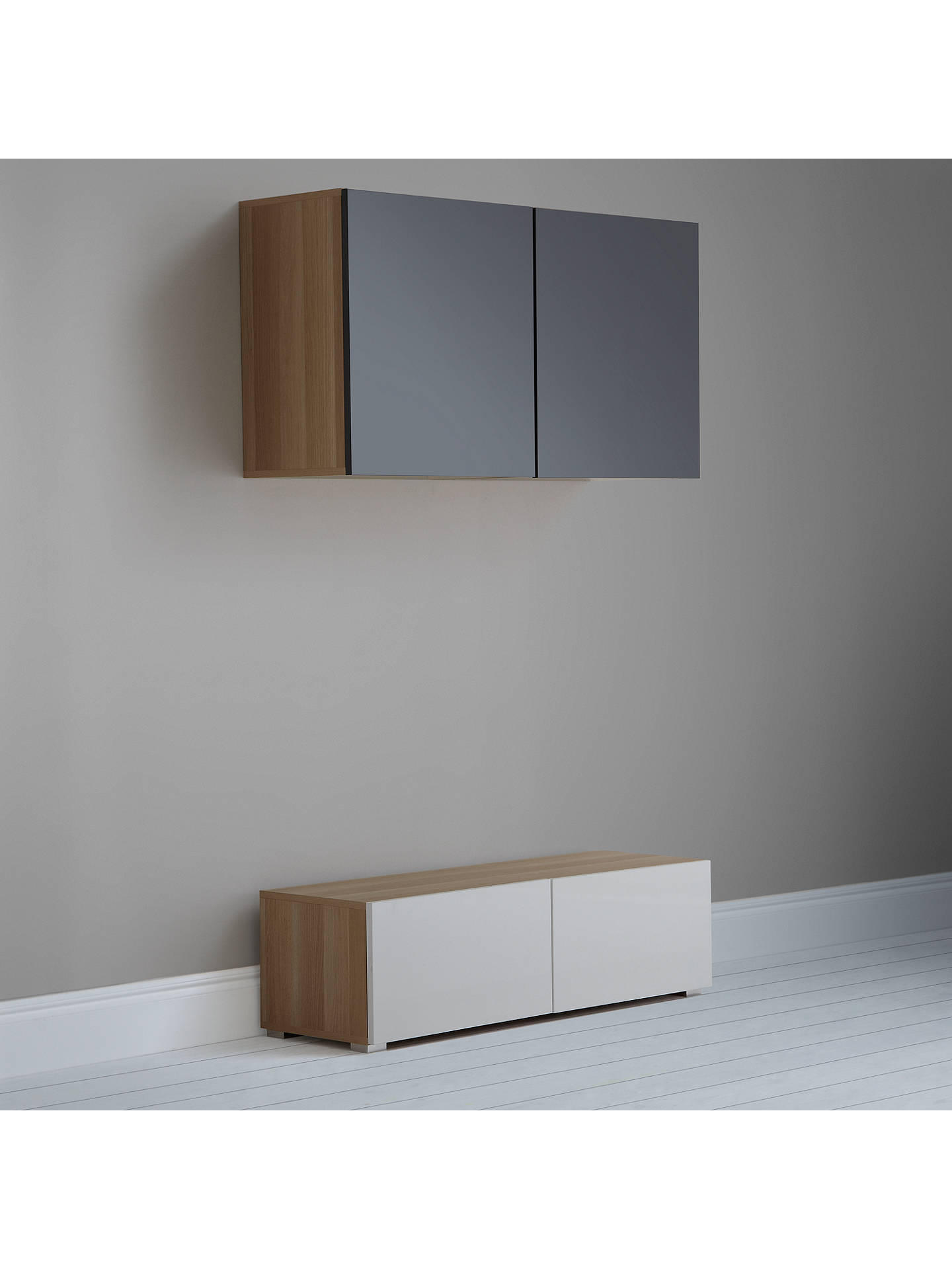 BuyHouse by John Lewis Mix it 120cm Floor and Floating Units, Oak/White Online at johnlewis.com