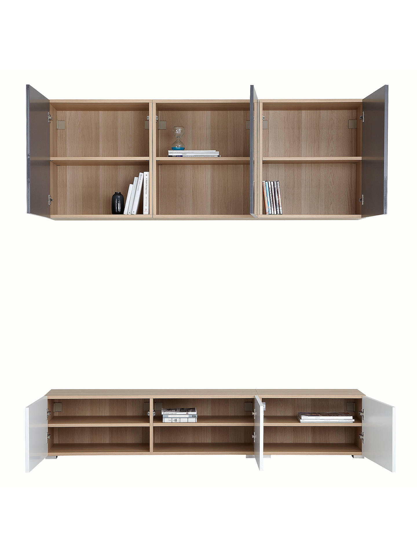 BuyHouse by John Lewis Mix it 180cm Floor and Floating Units, Oak/White Online at johnlewis.com