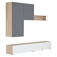 Buy House by John Lewis Mix it 240cm Floor and Floating Shelf Units, Oak/White Online at johnlewis.com