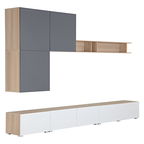 Buy House by John Lewis Mix it 300cm Floor and Floating Units with Shelf, Oak/White Online at johnlewis.com