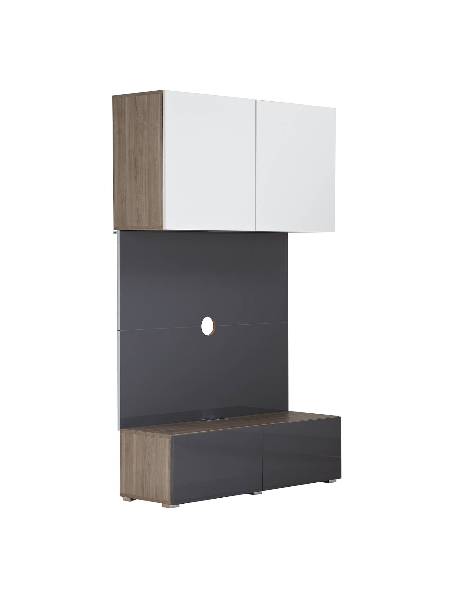 BuyHouse by John Lewis Mix it 120cm Media Unit with Steel Panel, Gloss Grey Online at johnlewis.com