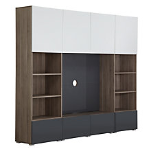 Buy House by John Lewis Match 240cm Media Unit with Steel Panel, Gloss Grey Online at johnlewis.com