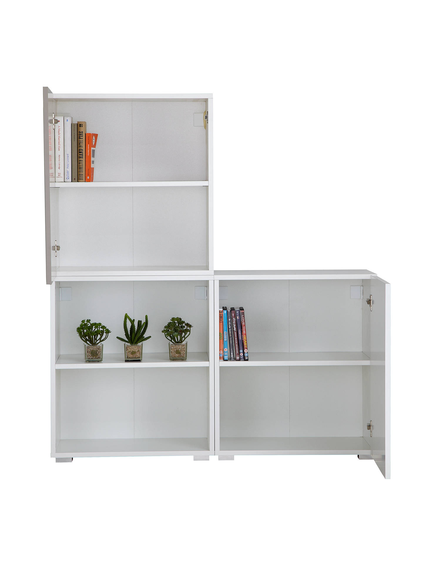 BuyHouse by John Lewis Mix it House by John Lewis Match 120cm 2-Door Shelf Unit, White/Mocha Online at johnlewis.com