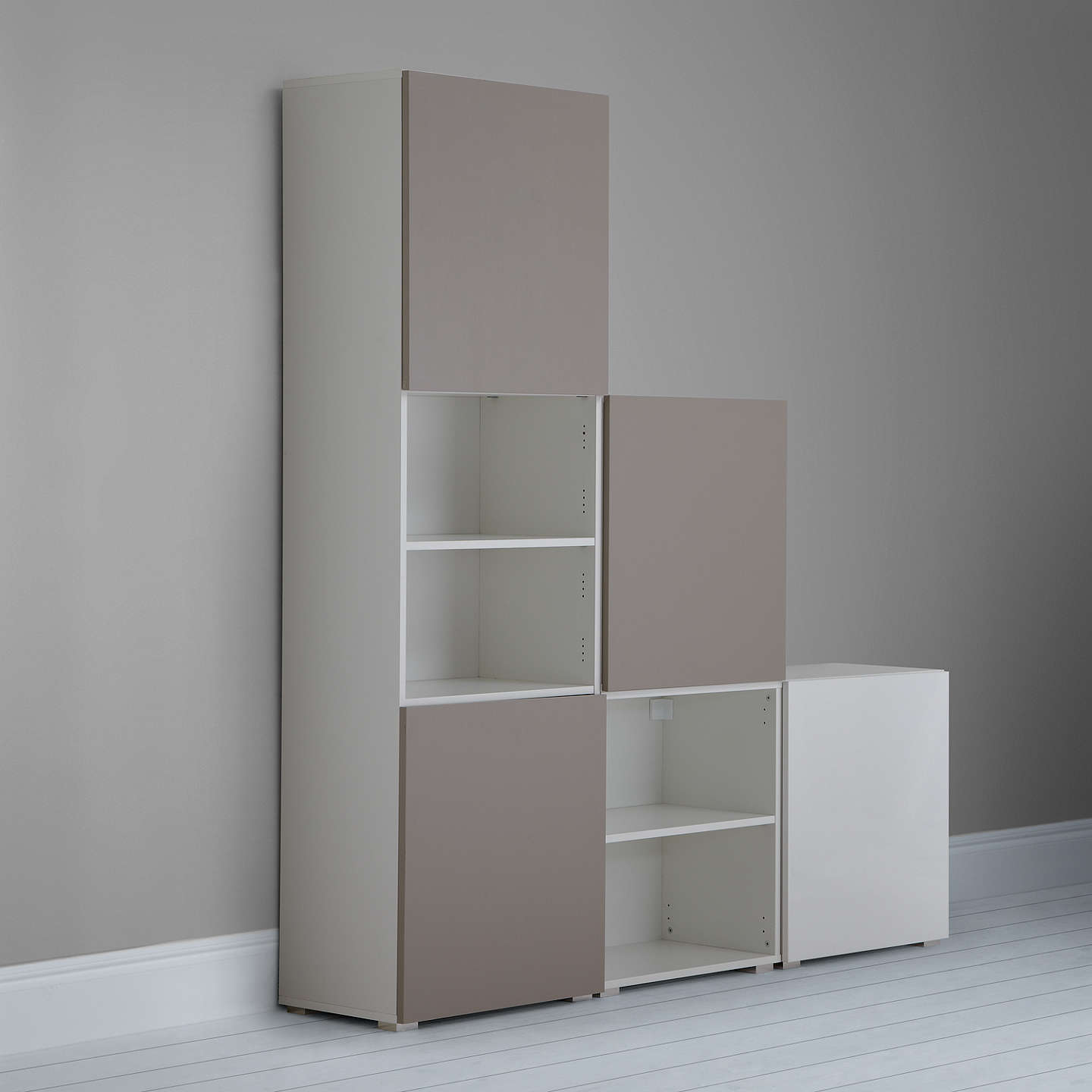 BuyHouse by John Lewis Mix it Tall 180cm 4-Door Shelf Unit, White/Mocha Online at johnlewis.com