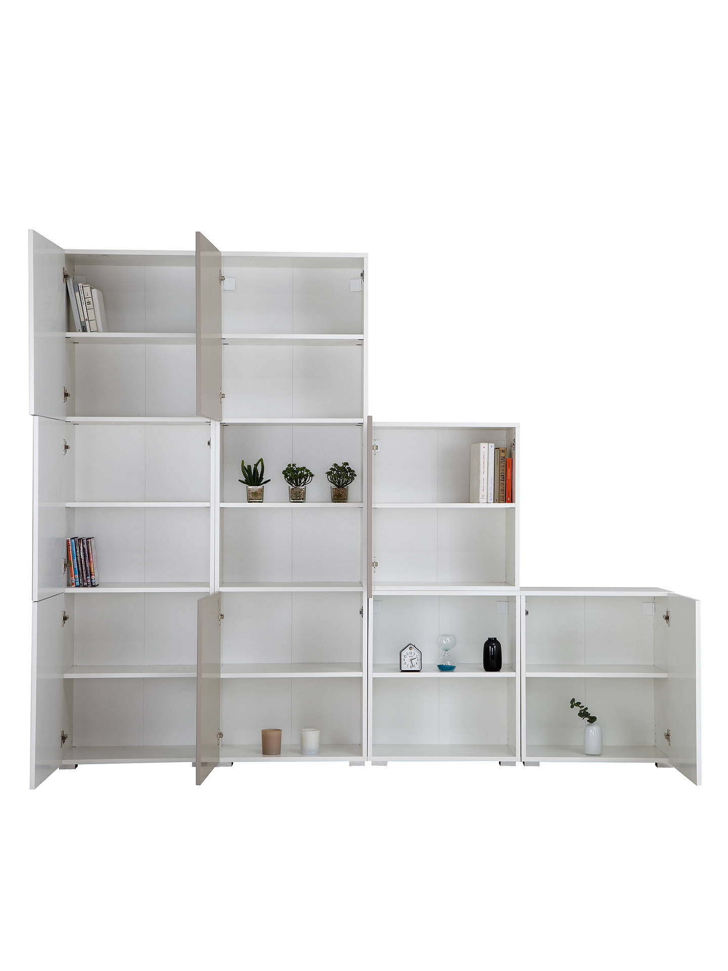 BuyHouse by John Lewis Mix it Tall 240cm 7-Door Shelf Unit, White/Mocha Online at johnlewis.com