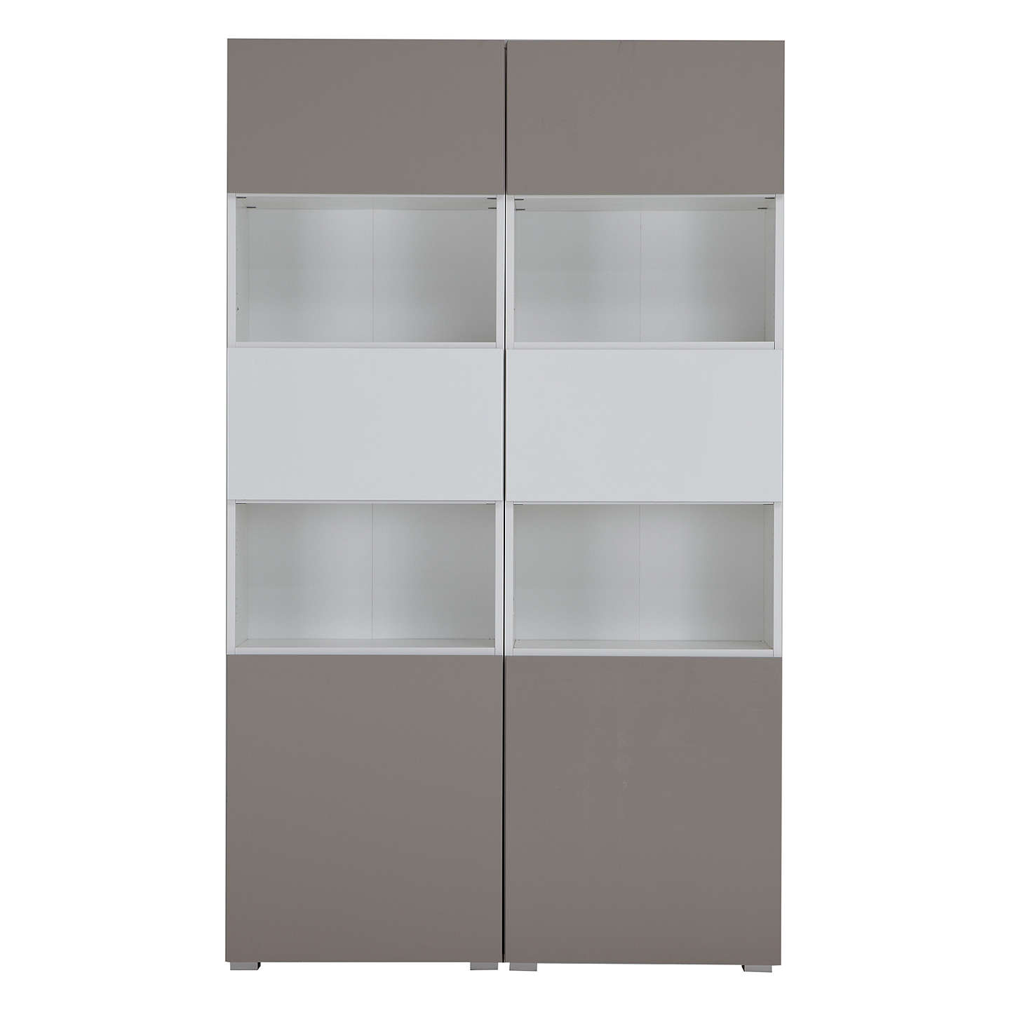 BuyHouse by John Lewis Mix it Tall 6-Door Double Shelf Unit, White/Mocha Online at johnlewis.com