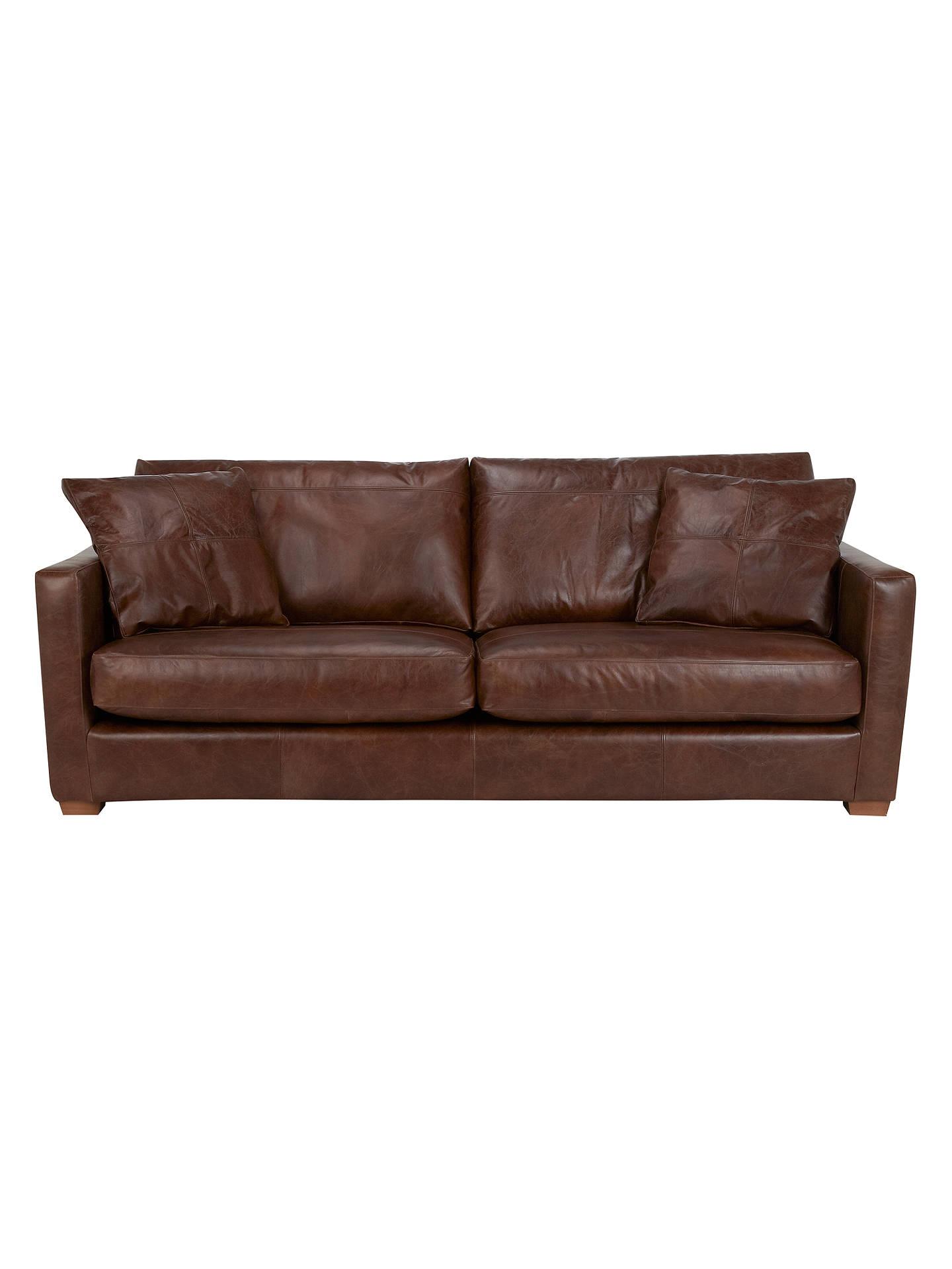 john lewis baxter grand leather sofa antique cigar at. Black Bedroom Furniture Sets. Home Design Ideas