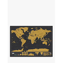 Buy Luckies Deluxe Scratch Map, H59 x W82cm Online at johnlewis.com