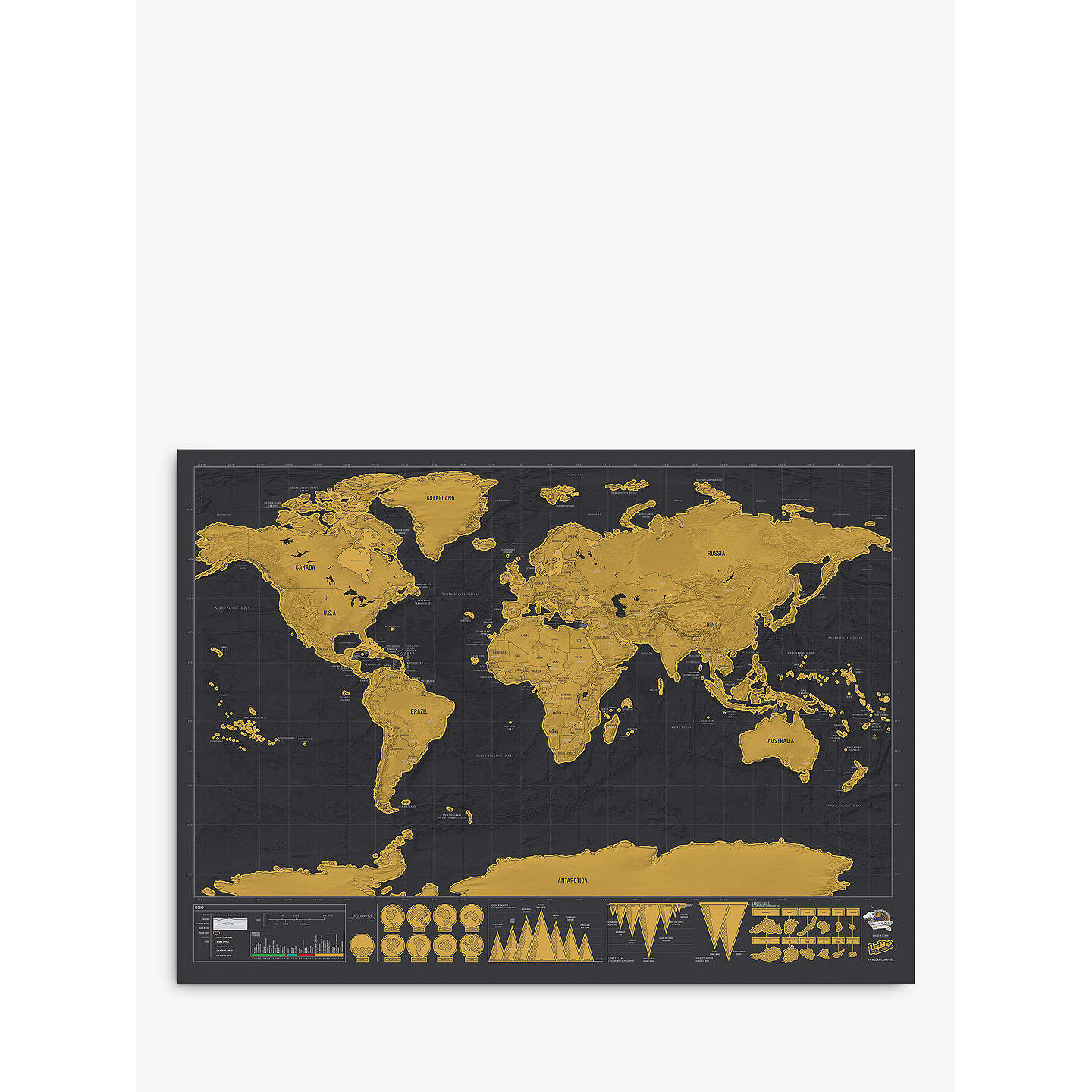 Luckies deluxe scratch map h59 x w82cm at john lewis buyluckies deluxe scratch map online at johnlewis gumiabroncs Images
