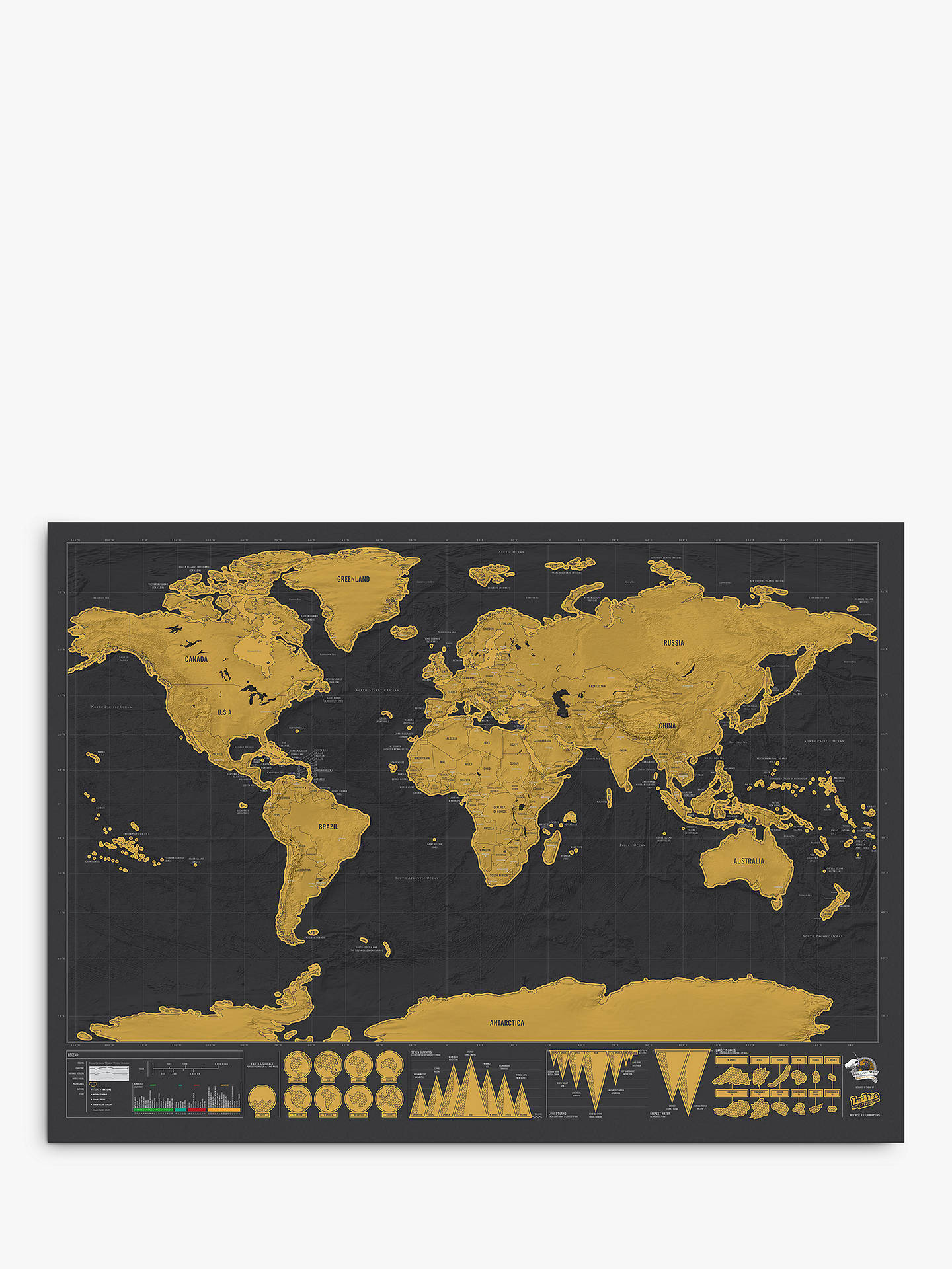 Buy Map Of Australia.Luckies Deluxe Scratch Map H59 X W82cm At John Lewis Partners