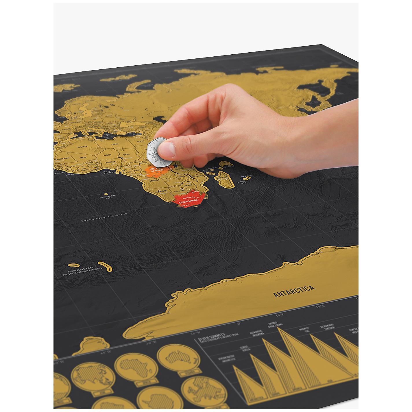 Buy Luckies Deluxe Scratch Map H X Wcm John Lewis - Scratch world map us manaufacturuer