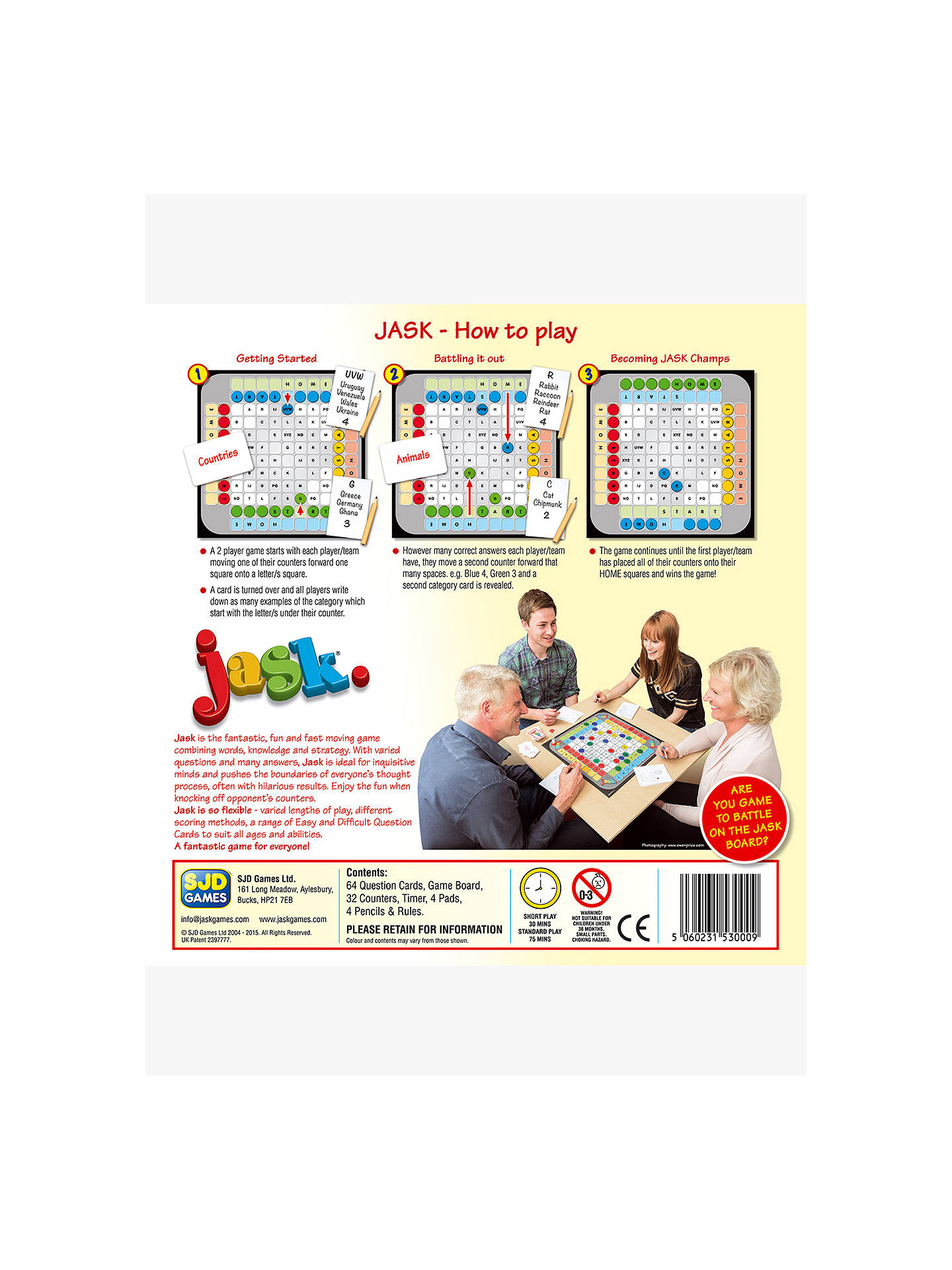 Buy JASK Games Board Game Online at johnlewis.com