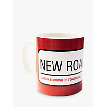 Buy A Piece Of Personalised Street Sign Mug, Red Online at johnlewis.com