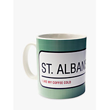 Buy A Piece Of Personalised Street Sign Mug, Teal Online at johnlewis.com