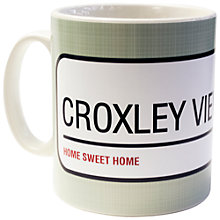 Buy A Piece Of Personalised Street Sign Mug, Sage Online at johnlewis.com