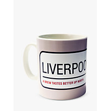 Buy A Piece Of Personalised Street Sign Mug, Beige Online at johnlewis.com