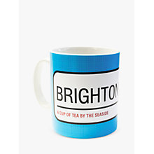 Buy A Piece Of Personalised Street Sign Mug, Blue Online at johnlewis.com