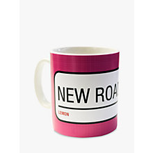 Buy A Piece Of Personalised Street Sign Mug, Bright Pink Online at johnlewis.com