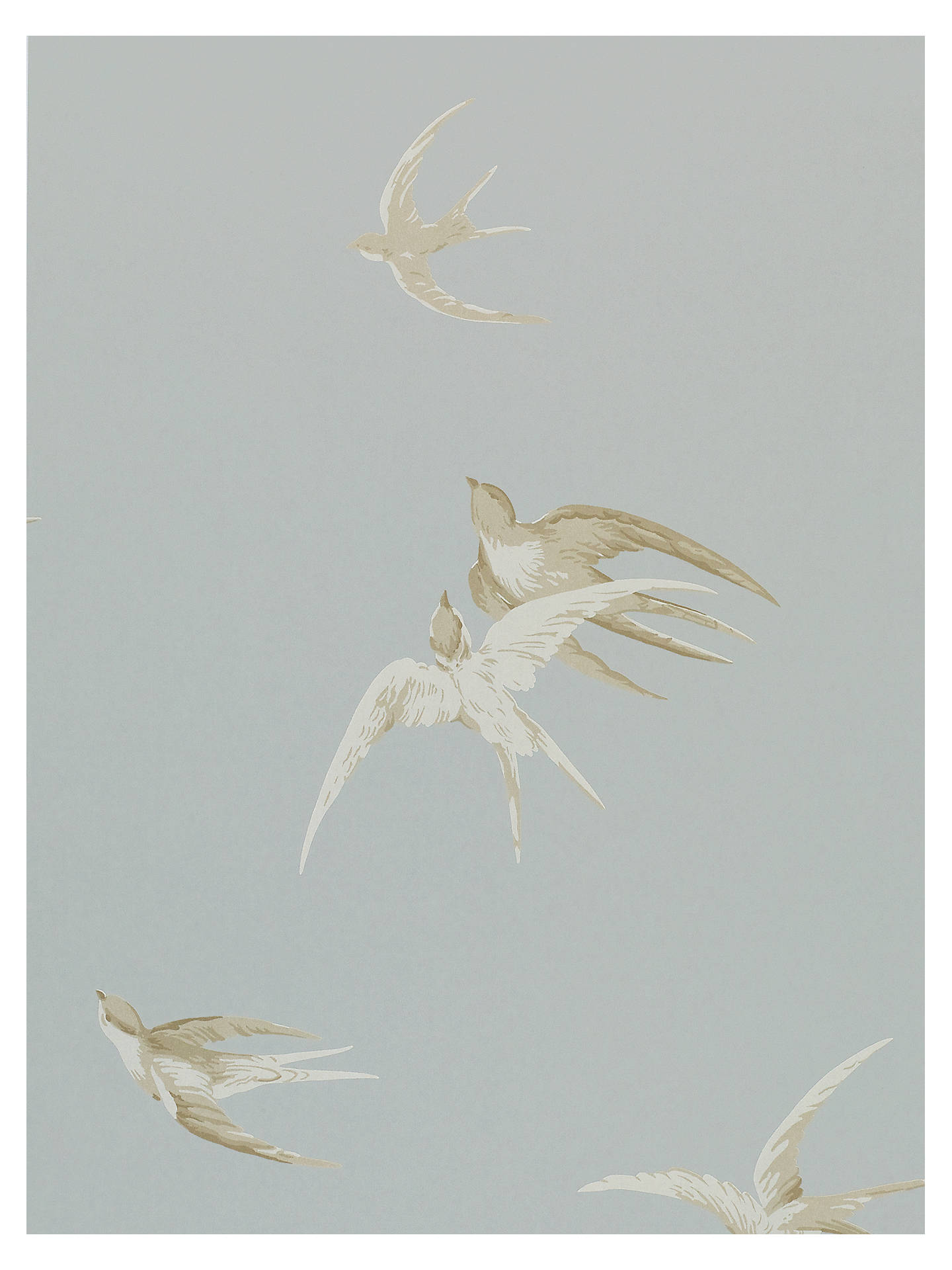 Buy Sanderson Swallows Wallpaper, Silver, DVIWSW104 Online at johnlewis.com