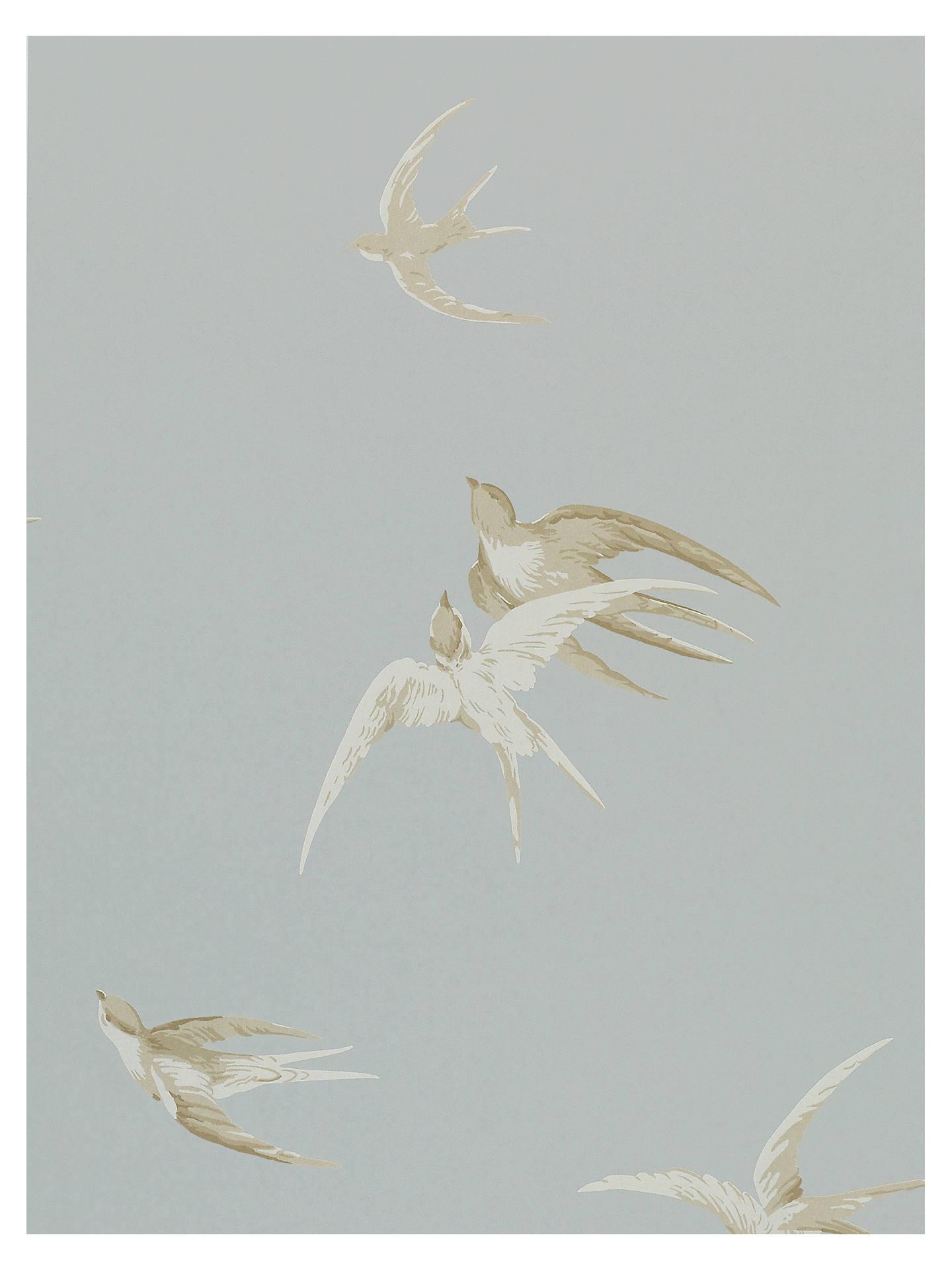 Buy Sanderson Swallows Wallpaper, Silver, DVIWSW104 Online at johnlewis.com ...