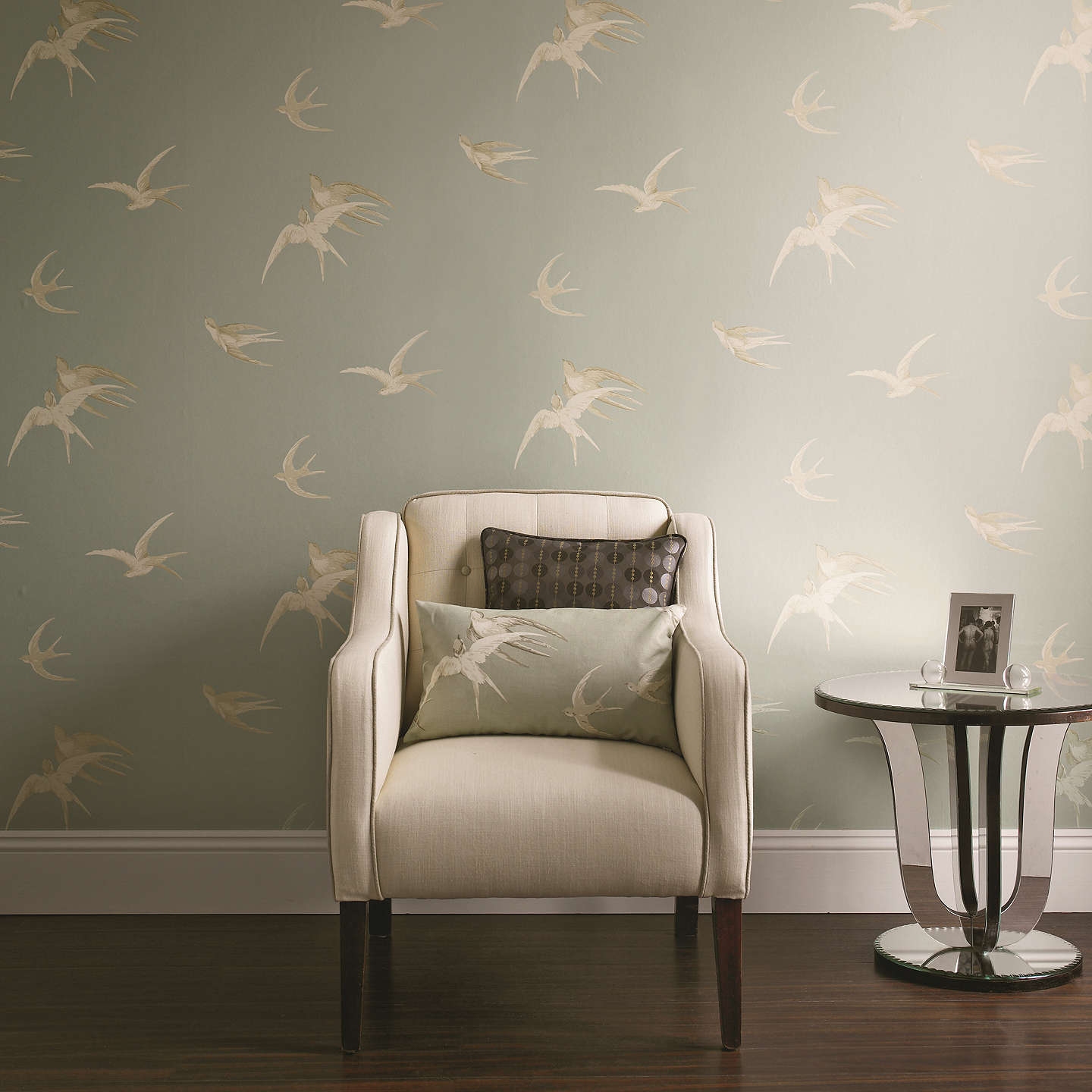 BuySanderson Swallows Wallpaper, Silver, DVIWSW104 Online at johnlewis.com