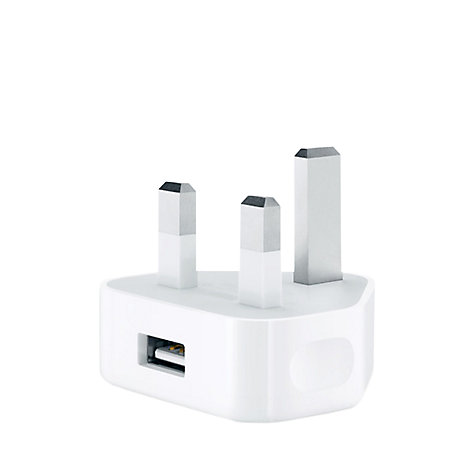 Buy Apple MD812B/B 5W USB Power Adapter for iPad mini, iPod & iPhone Online at johnlewis.com