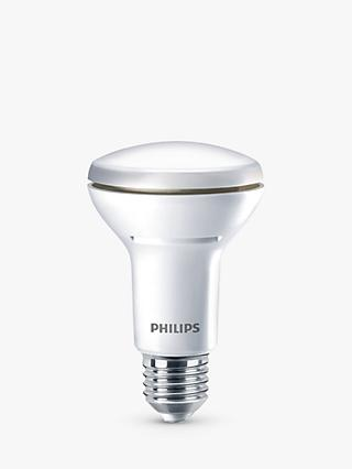 Phillips 6W Energy Saving ES R63 LED Reflector Dimmable Bulb, Clear