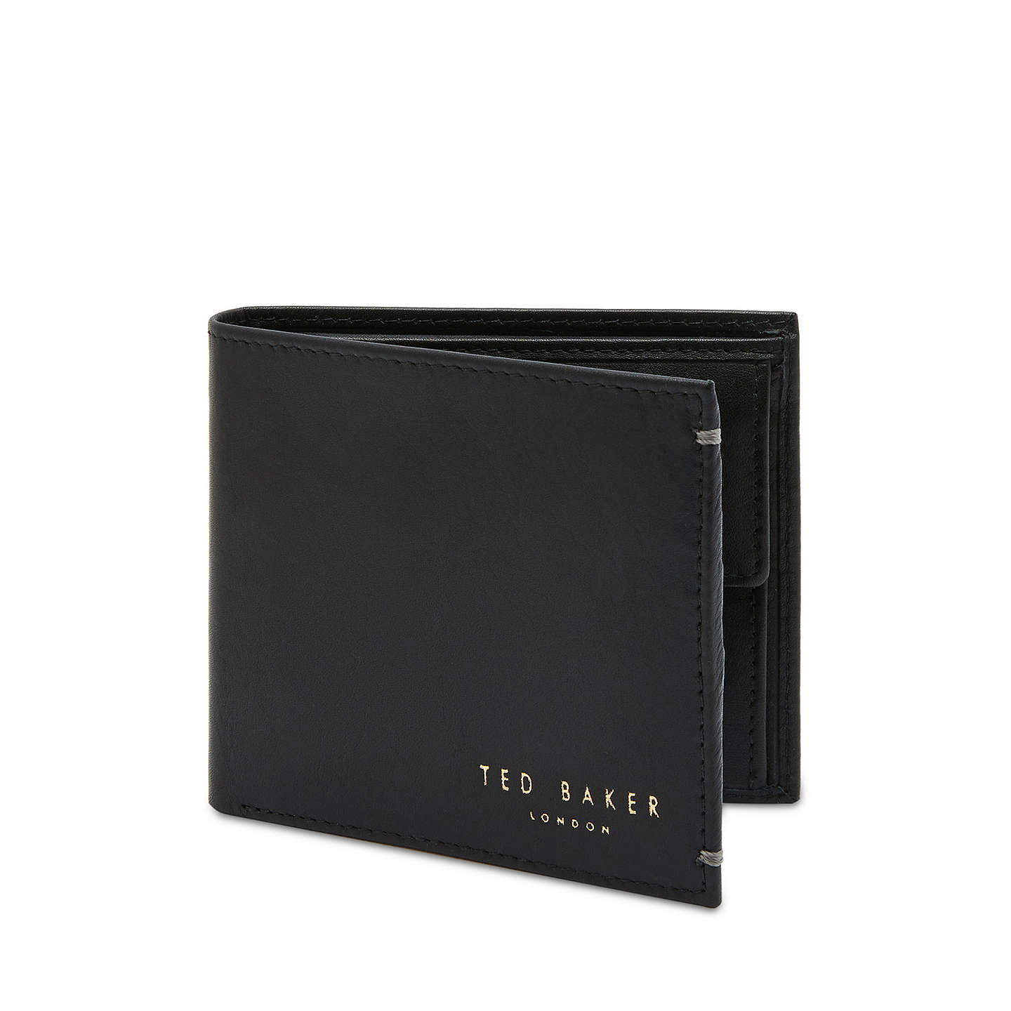 BuyTed Baker Anthonys Leather Bifold Wallet, Black Online at johnlewis.com