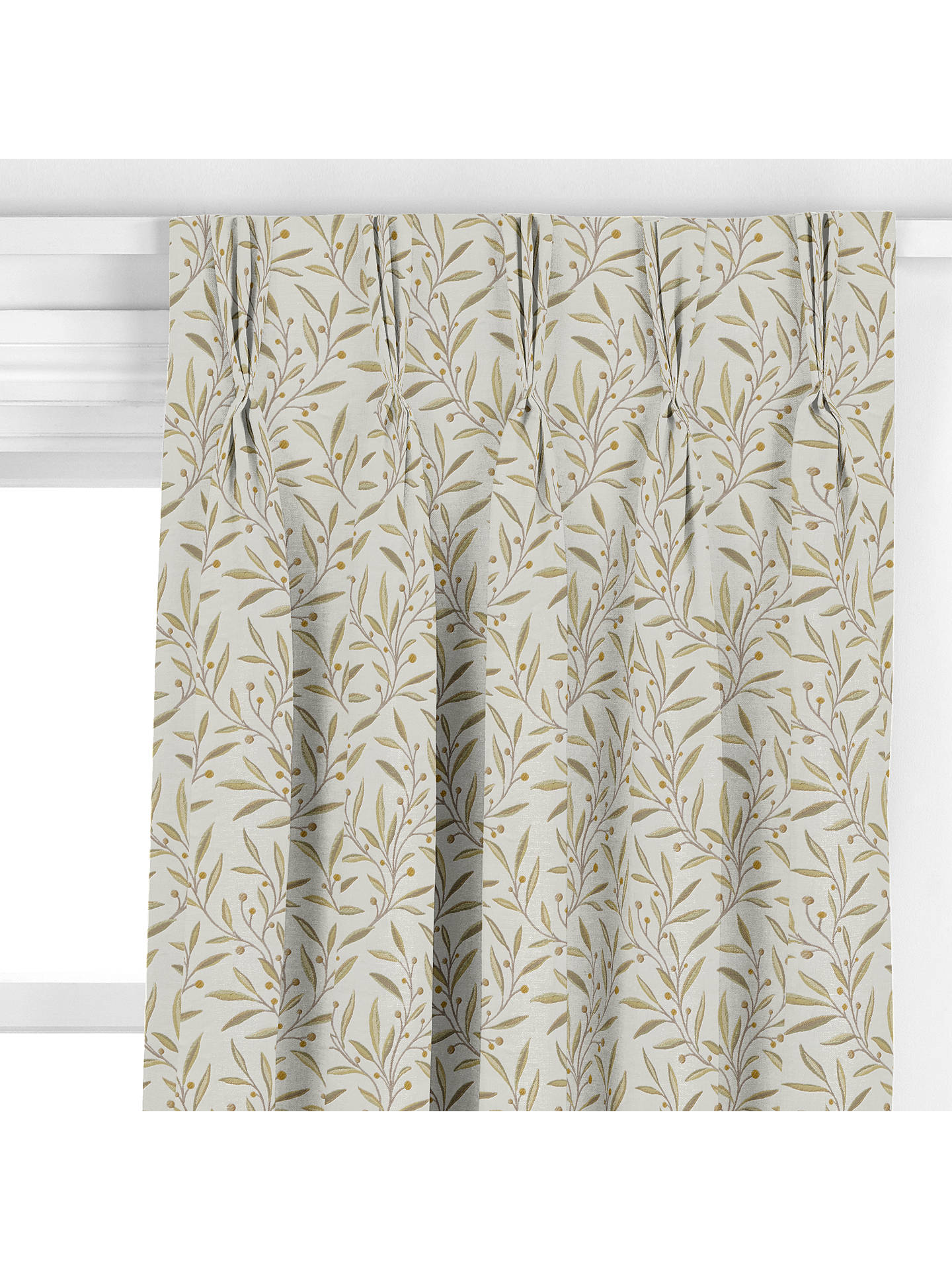Buy John Lewis & Partners Guelder Berry Made to Measure Curtains, Yellow Online at johnlewis.com