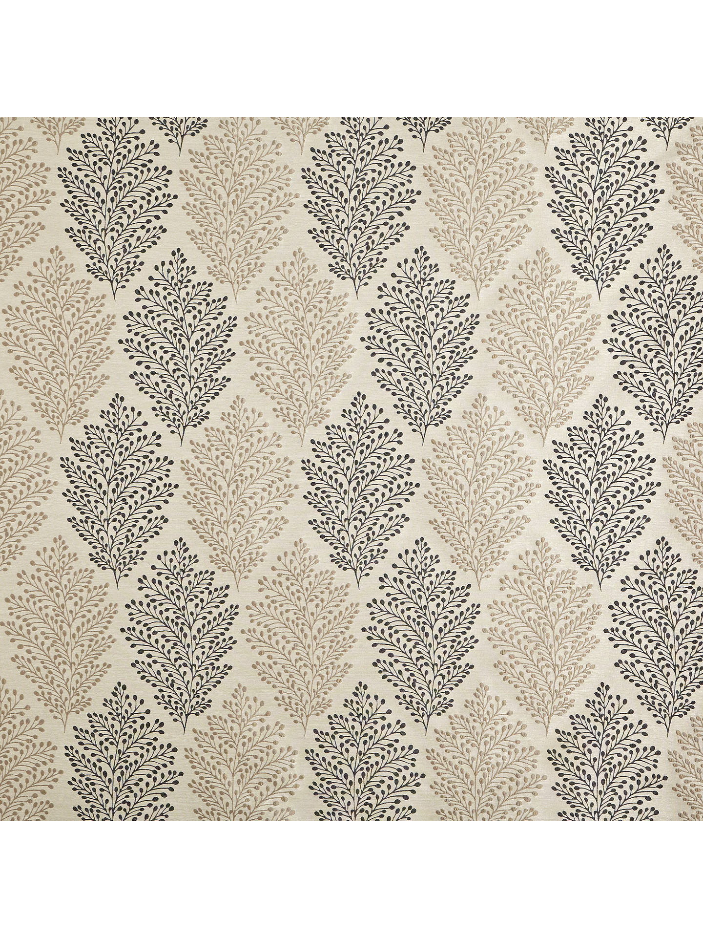 Buy John Lewis & Partners Bracken Leaf Made to Measure Curtains, Charcoal Online at johnlewis.com