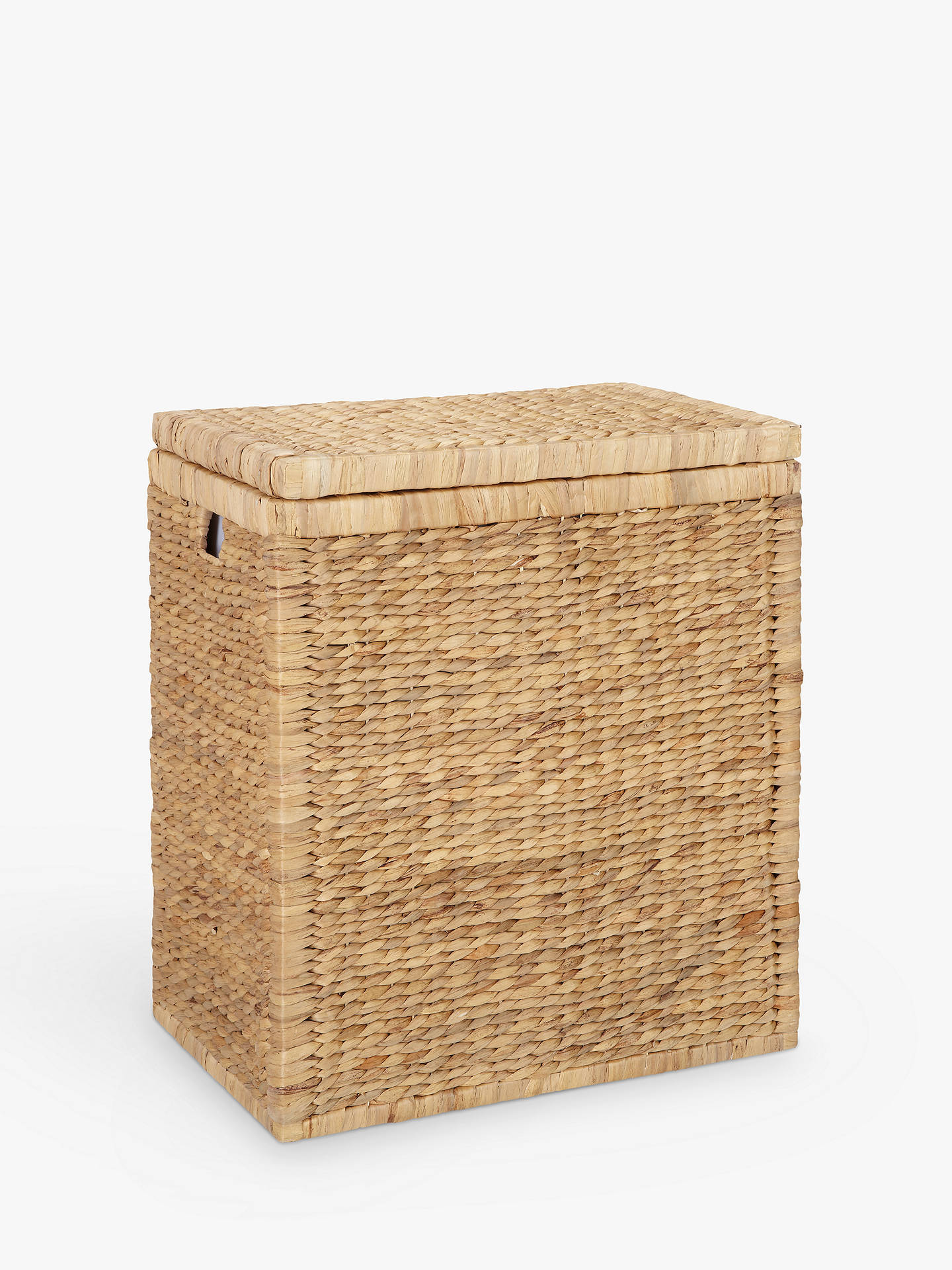 Buyjohn lewis partners water hyacinth double laundry hamper online at johnlewis