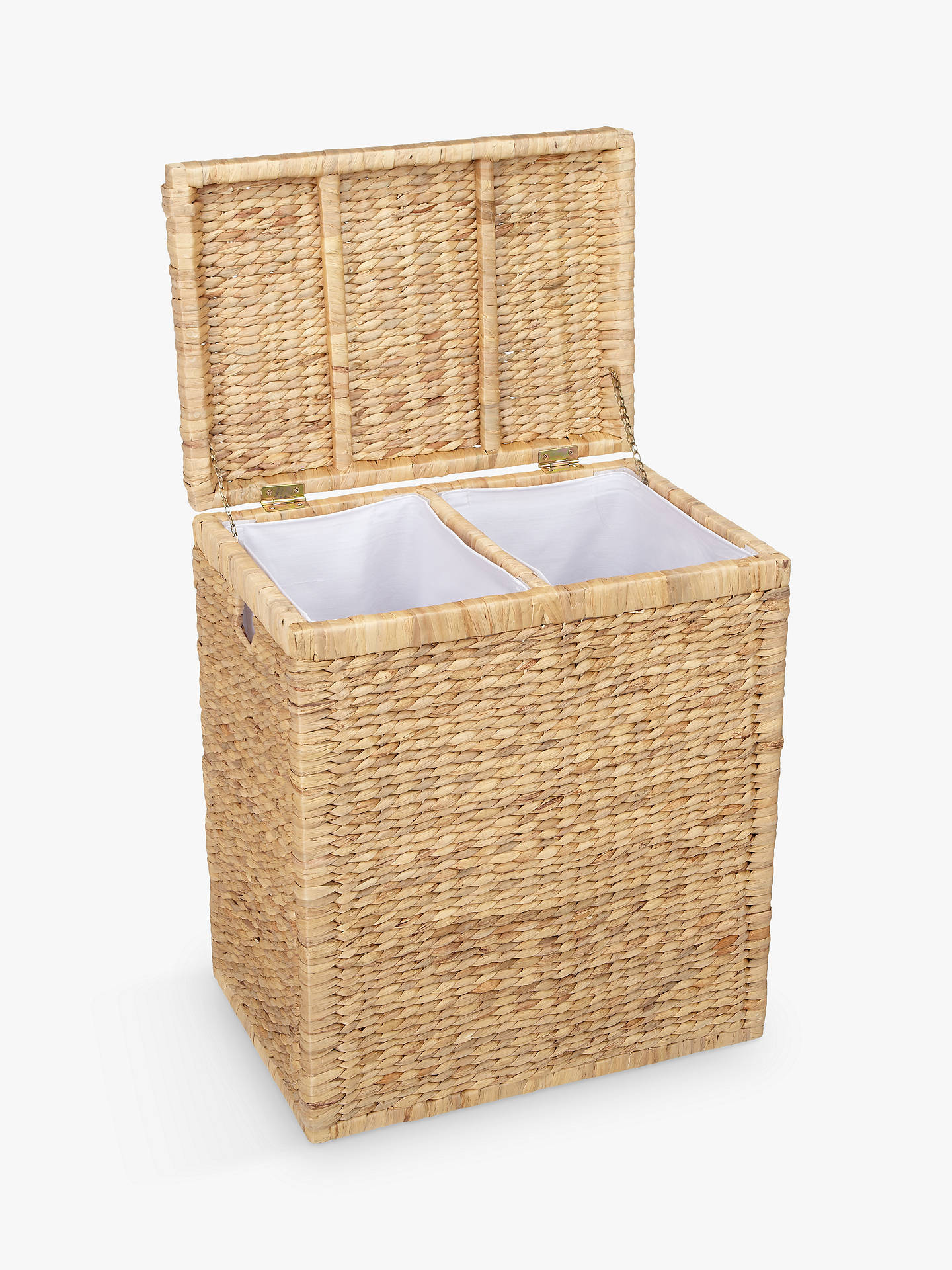 Buy John Lewis & Partners Water Hyacinth Double Laundry Hamper Online at johnlewis.com