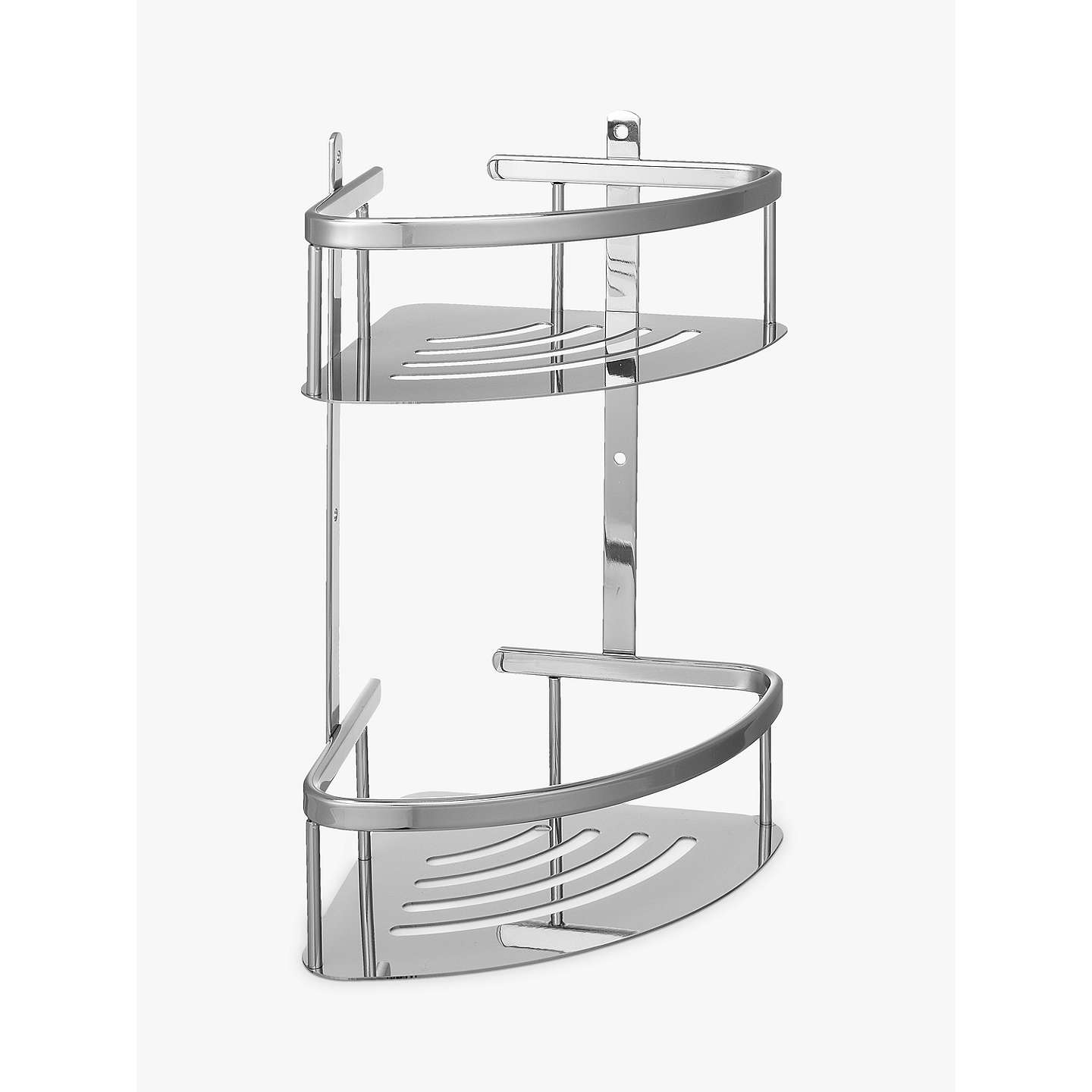 John Lewis Contemporary Brass And Stainless Steel 2 Tier Corner Shower Basket At John Lewis