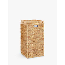 Buy John Lewis Water Hyacinth Laundry Hamper Online at johnlewis.com