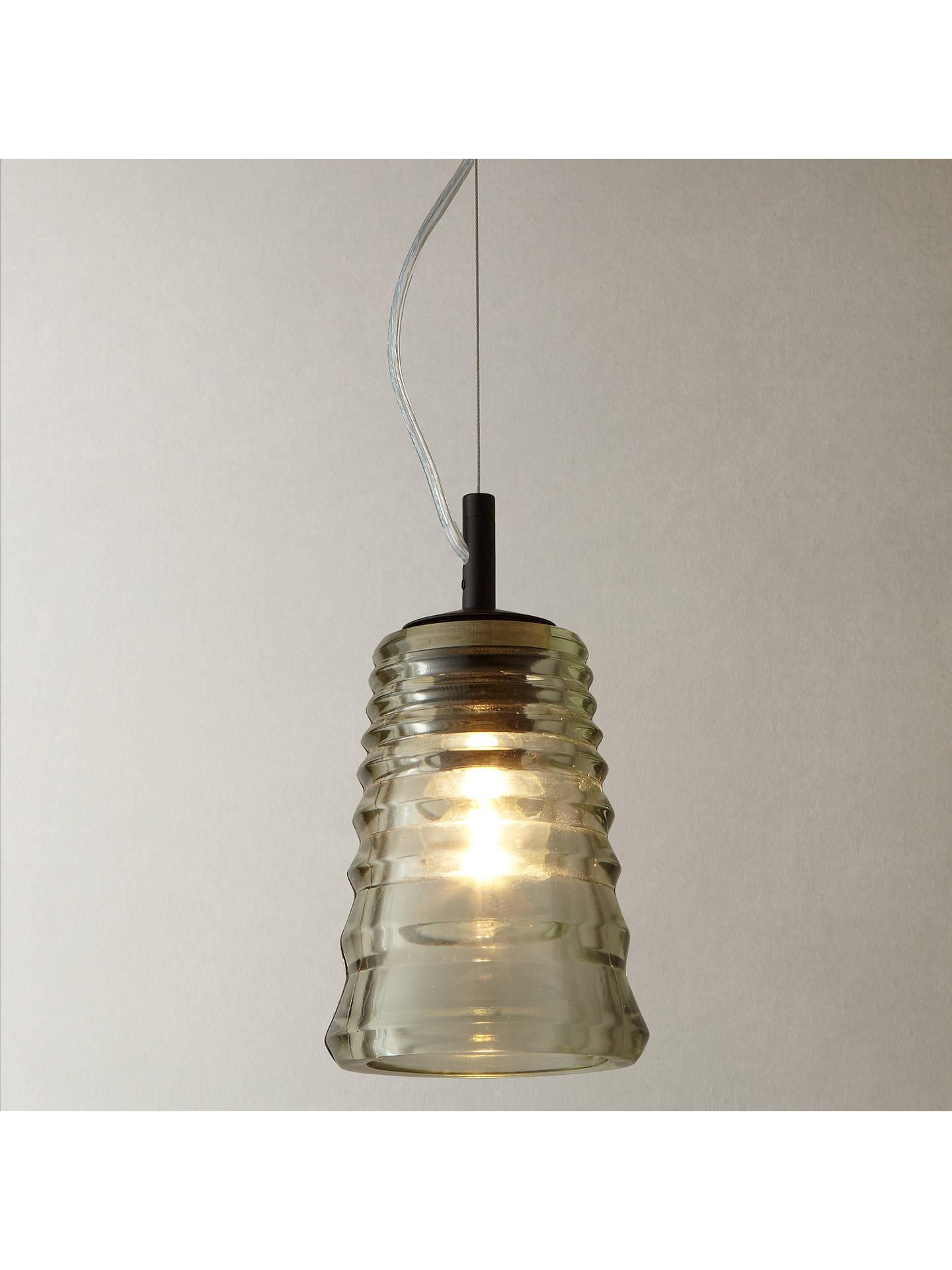 Tom Dixon Pressed Glass Tube Pendant Light at John Lewis ...