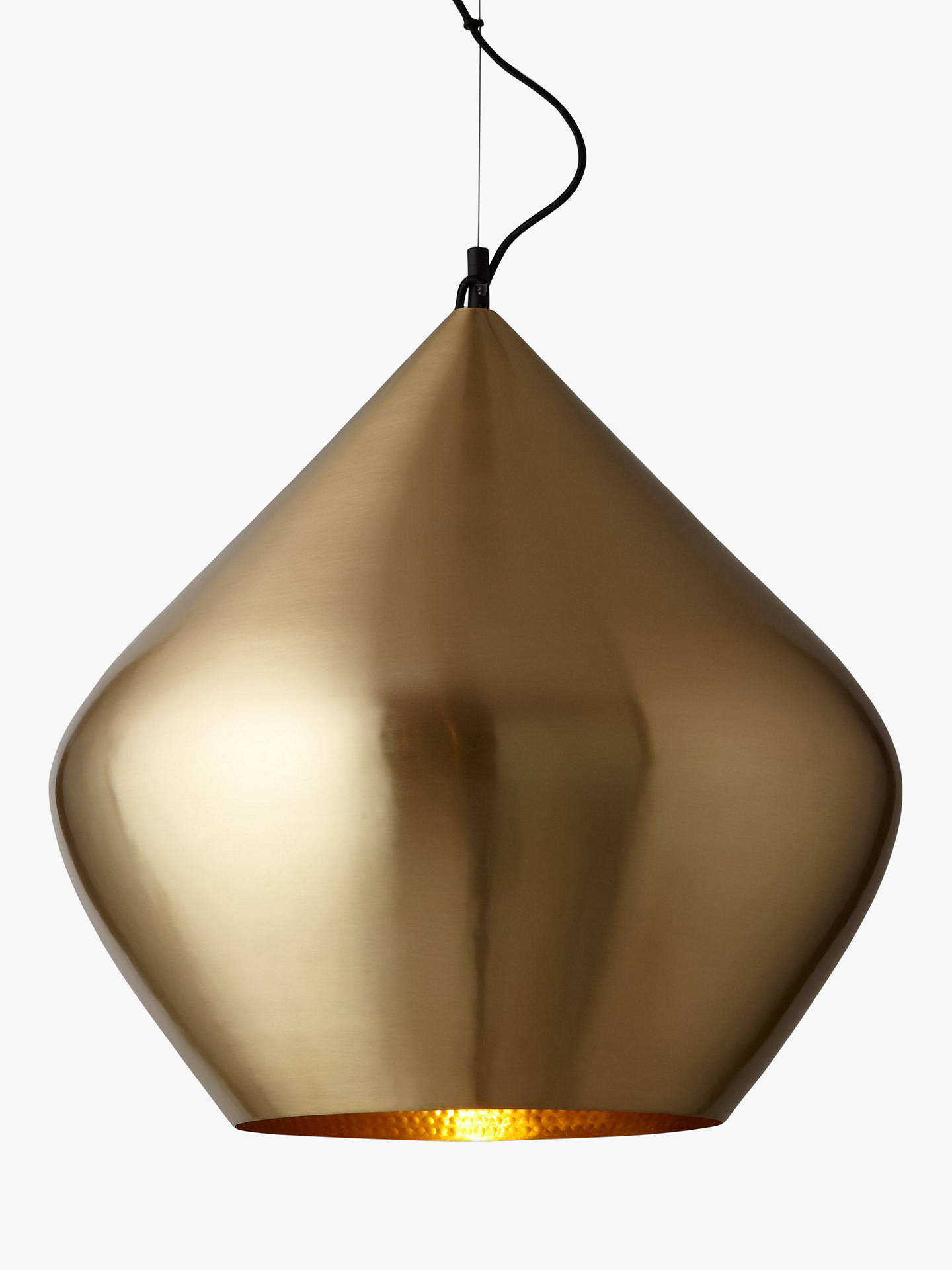 BuyTom Dixon Stout Beat Pendant Light, Brass Online at johnlewis.com