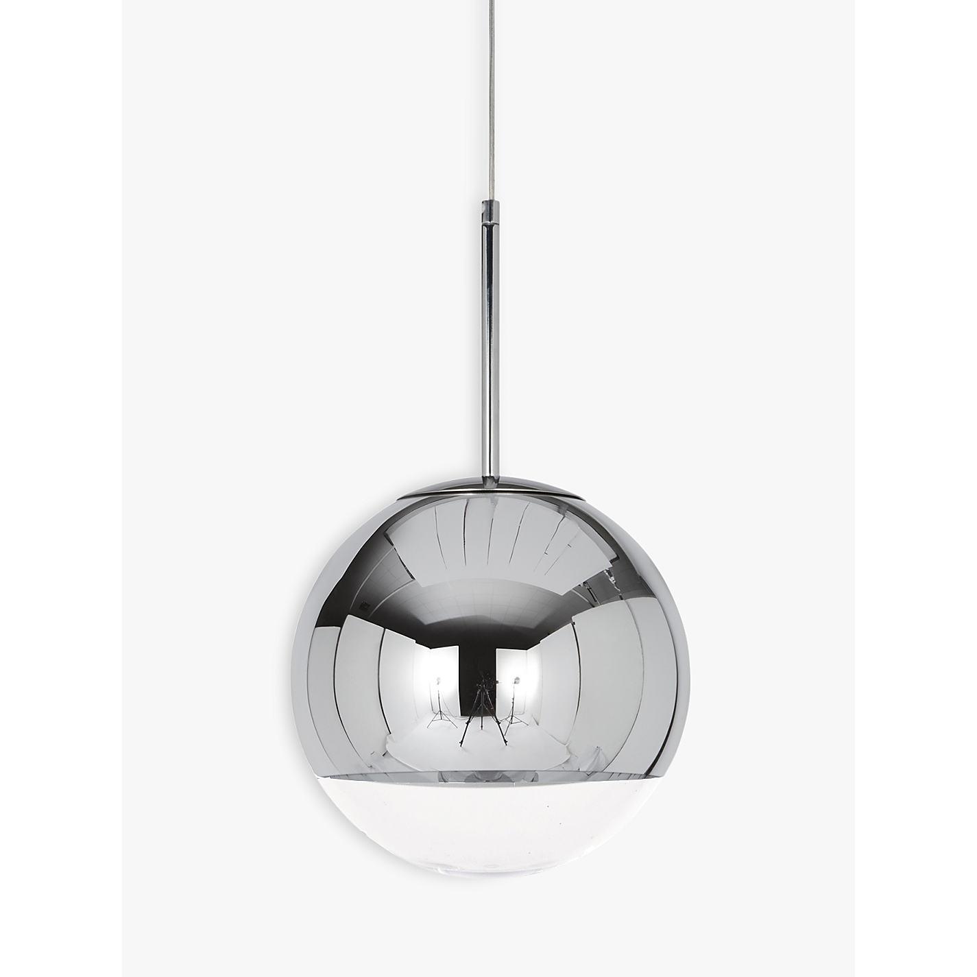 Buy tom dixon mirror ball pendant light large john lewis buy tom dixon mirror ball pendant light large online at johnlewis mozeypictures Choice Image