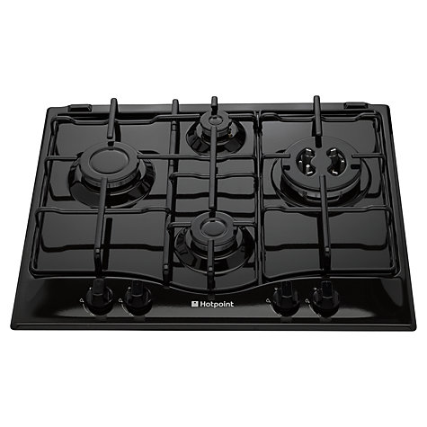 Buy Hotpoint GCL640TK Gas Hob, Black Online at johnlewis.com